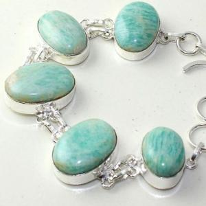 Amz 144b bracelet baroque amazonite 34gr achat vente bijou monture argent 925