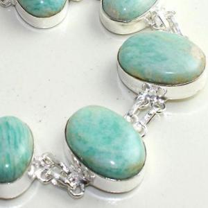 Amz 144c bracelet baroque amazonite 34gr achat vente bijou monture argent 925