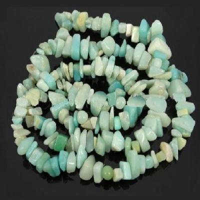 Amz 150a collier sautoir 90 mm perles amazonite freeform polies 9 12mm achat vente