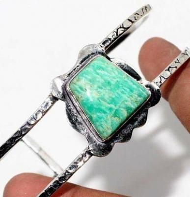 Amz 187b bracelet torque 15x20mm amazonite 26gr achat vente bijou argent 925