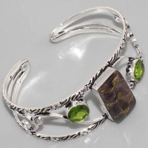 Bc 0007a bracelet peridot ammolite achat vente bijou argent 925