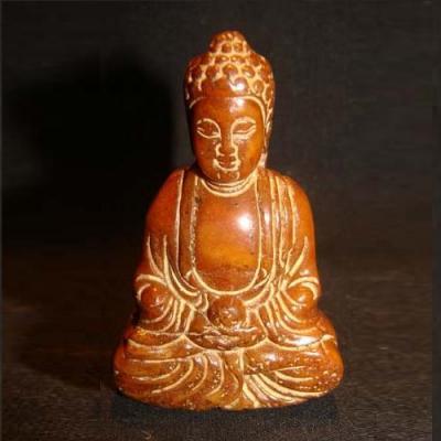 Bdh 004a bouddha sculpture jaspe miel 60x40mm achat vente objet esoterique religieux ethnique