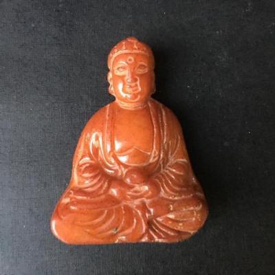 Bdh 005a bouddha sculpture jaspe miel 55x43x17mm achat vente objet esoterique religieux ethnique