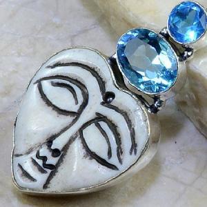 Bm 0305b pendentif medievale jaspe iolite argent 925 achat vente