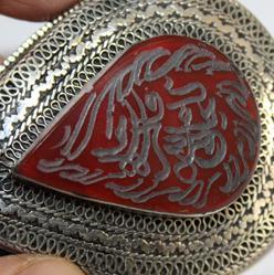 Bp 0004 pendentif afghan coranique intaille verset coran cornaline 1