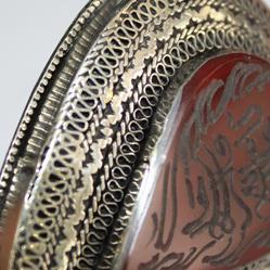 Bp 0004 pendentif afghan coranique intaille verset coran cornaline 5