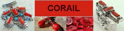 Bijoux en argent 925 avec pierre CORAIL - achat et  vente - bagues, colliers, bracelets, parures, boucles oreilles, pendentifs,