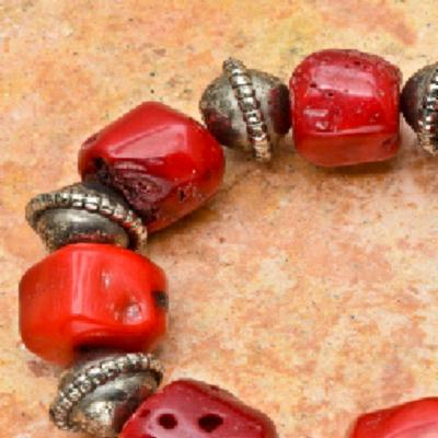 Cr 0366b bracelet corail rouge achat vente bijoux ethniques