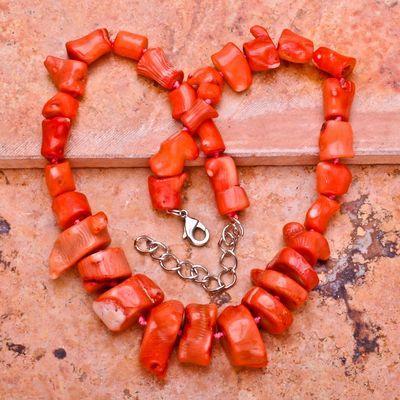 Cr 0385a collier parure sautoir corail rose 104gr achat vente bijoux ethniques