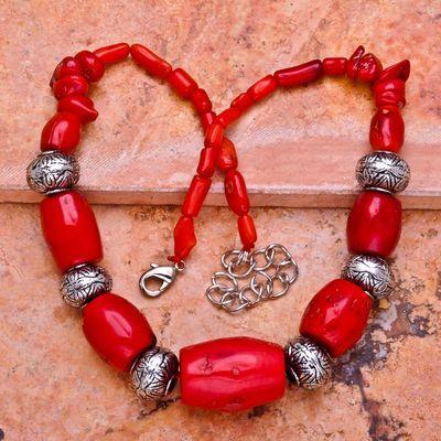 Cr 0396a collier parure sautoir corail orange achat vente bijoux ethniques