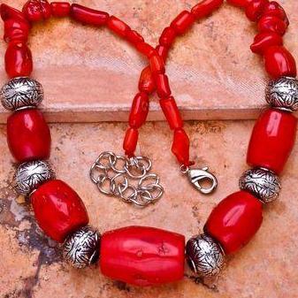 Cr 0396b collier parure sautoir corail orange achat vente bijoux ethniques