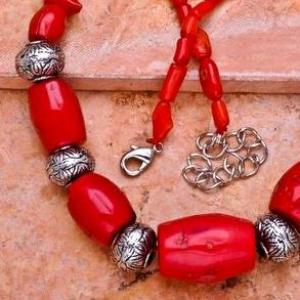 Cr 0396c collier parure sautoir corail orange achat vente bijoux ethniques
