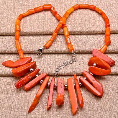 Cr 0401d collier parure sautoir 45gr corail orange achat vente bijoux ethniques
