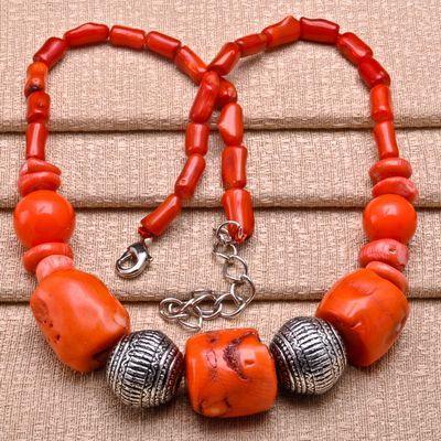 Cr 0408a collier 92gr parure sautoir corail orange achat vente bijoux ethniques