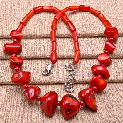 Cr 0416a collier 75gr parure sautoir corail rouge achat vente bijoux ethniques