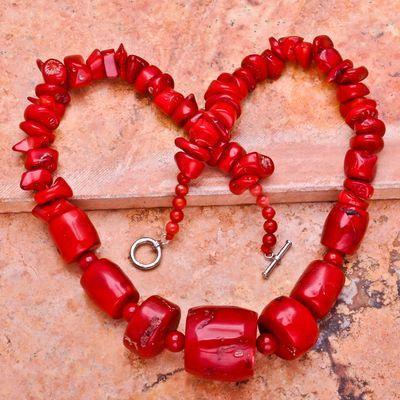 Cr 0420d collier 98gr parure sautoir corail rouge achat vente bijoux ethniques