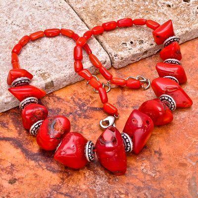 Cr 0423a collier 90gr parure sautoir corail rouge achat vente bijoux ethniques