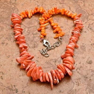 Cr 0426a collier corail rose ethnique berbere kabyle oriental achat vente bijoux