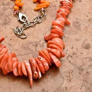 Cr 0426b collier corail rose ethnique berbere kabyle oriental achat vente bijoux