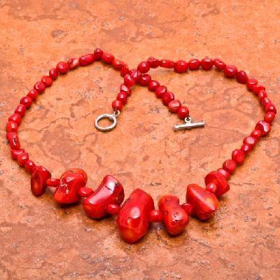 Cr 0427d collier parure sautoir corail rouge 50gr achat vente bijoux ethniques