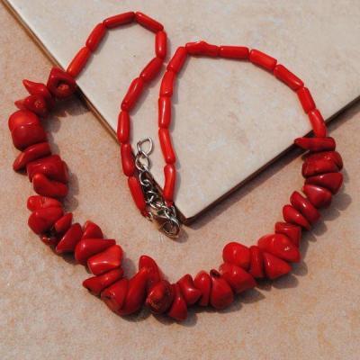Cr 0429aa collier parure sautoir corail rouge achat vente bijoux ethniques