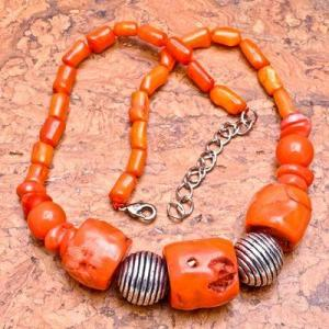 Cr 0431a collier corail rose ethnique 98gr berbere kabyle oriental achat vente bijoux