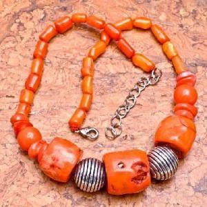Cr 0431d collier corail rose ethnique 98gr berbere kabyle oriental achat vente bijoux