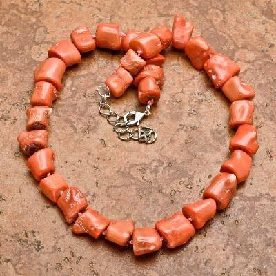Cr 0433a collier parure sautoir corail rose 123gr achat vente bijoux ethniques 1