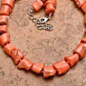 Cr 0433c collier parure sautoir corail rose 123gr achat vente bijoux ethniques 1
