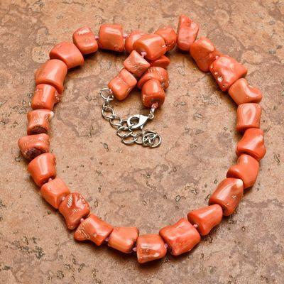 Cr 0433d collier parure sautoir corail rose 123gr achat vente bijoux ethniques