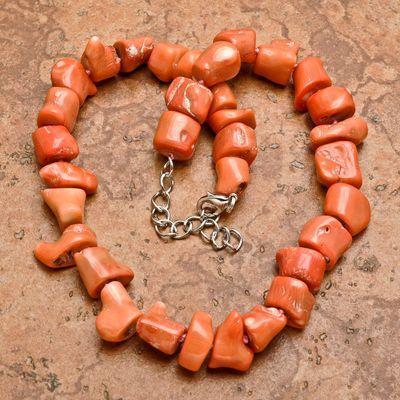 Cr 0439a collier parure sautoir corail rose 110gr achat vente bijoux ethniques