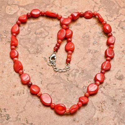 Cr 0442a collier 28gr sautoir parure corail rouge achat vente bijoux ethniques