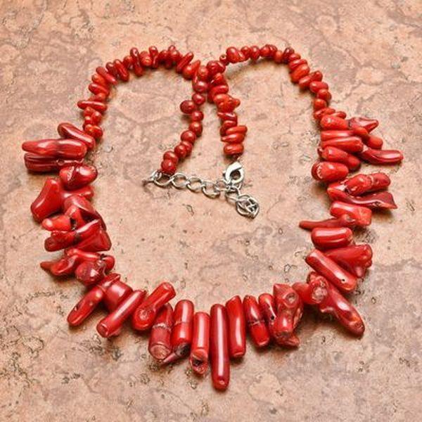 Cr 0443b collier 84gr sautoir parure corail rouge achat vente bijoux ethniques