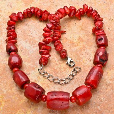 Cr 2015a collier corail 116 rouge ethnique oriental achat vente bijoux