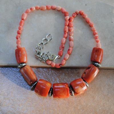 Cr 2118a collier corail rose ethnique oriental achat vente bijoux