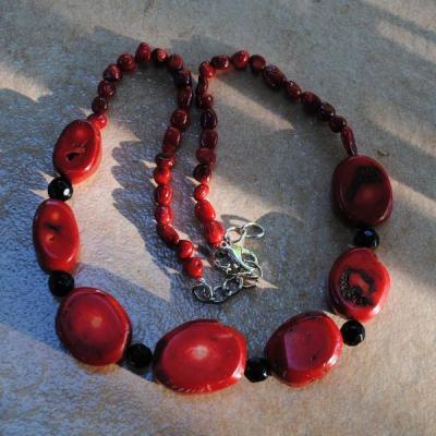 Cr 2124a collier corail rouge ethnique oriental achat vente bijoux