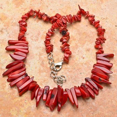 Cr 2615b collier 76gr sautoir parure corail rouge achat vente bijoux ethniques