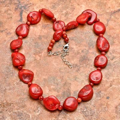 Cr 4789a collier parure sautoir corail rouge 54gr achat vente bijoux ethniques