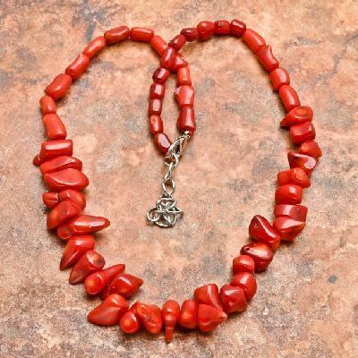 Cr 5067a collier parure sautoir corail rouge achat vente bijoux ethniques