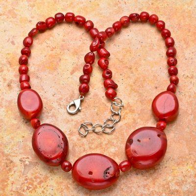 Cr 7142a collier parure corail argent ethnique achat vente
