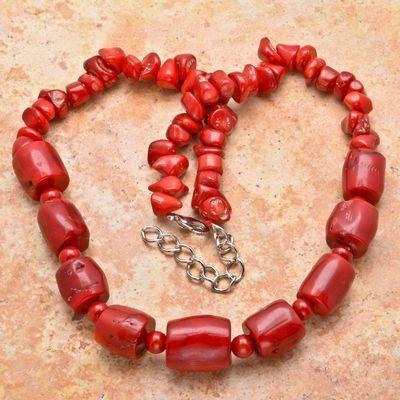Cr 8446a collier 110gr sautoir parure corail rouge achat vente bijoux ethniques