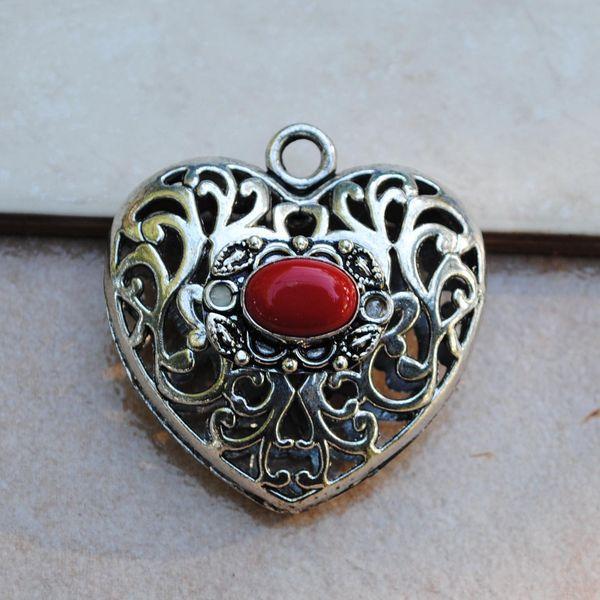 Cr 8804 pendentif coeur pendant corail achat vente bijou argent 925 3