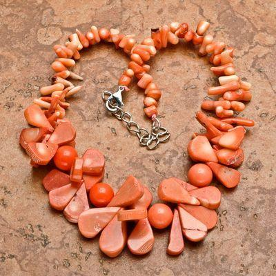 Cr 9299b collier corail rose 100gr ethnique berbere kabyle oriental achat vente bijoux
