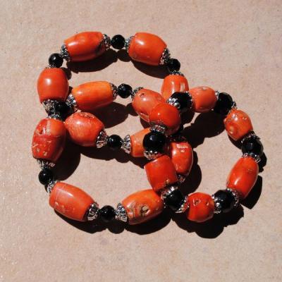 Cr 9698 2 bracelet corail rouge achat vente bijoux ethniques