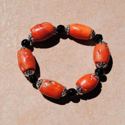 Cr 9698 3 bracelet corail rouge achat vente bijoux ethniques