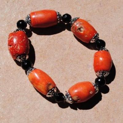 Cr 9698 4 bracelet corail rouge achat vente bijoux ethniques