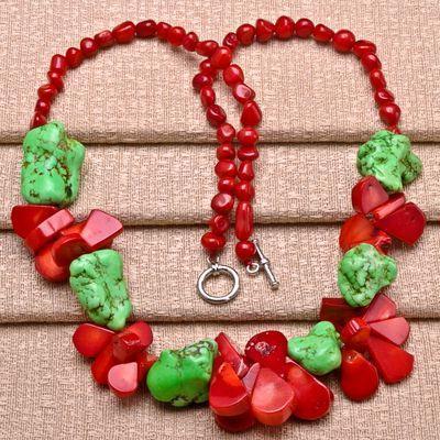 Cr 9706b collier 60gr sautoir parure corail rouge turquoise achat vente bijoux ethniques