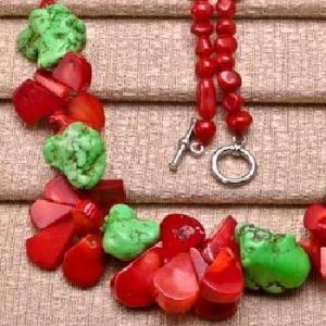 Cr 9706c collier 60gr sautoir parure corail rouge turquoise achat vente bijoux ethniques