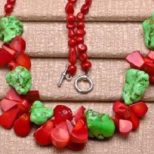 Cr 9706d collier 60gr sautoir parure corail rouge turquoise achat vente bijoux ethniques