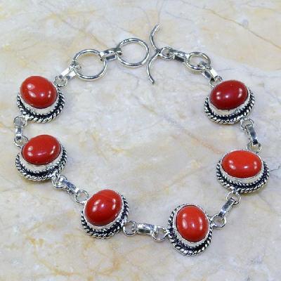 Crf 018a bracelet corail fantaisie argent 925 achat vente 1